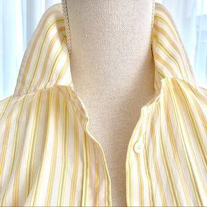 J.Crew yellow pinstripe slim fit cotton blouse